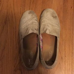 TOMS Canvas Slip Ons Size 12